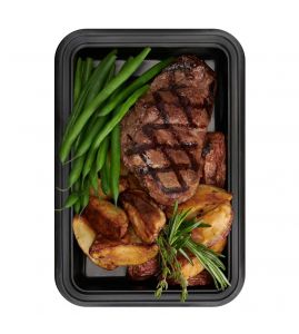 The Frankie Edgar: Grilled ranch steak served with roasted red bliss potatoes with a side of garlic green beans.
