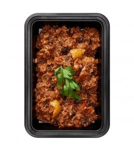 Chipotle Chili (Low Carb): Lean turkey chili with fresh beans, peppers and onions.