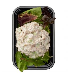 BRO's Keto-Friendly Chicken Salad: A deli classic, served up BRO style! Fresh shredded chicken, celery, onions and cornichons, tossed with an herb-packed creamy mayo.
