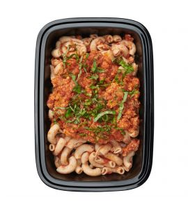 FITALY Gluten-Free Turkey Bolognese: Hearty ground turkey with carrots, celery and onions in our classic marinara sauce, tossed with Tinkyada® gluten-free brown rice pasta, served with a side of grated parmesan cheese.