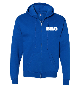 Royal Blue Zip Hooded Sweatshirt