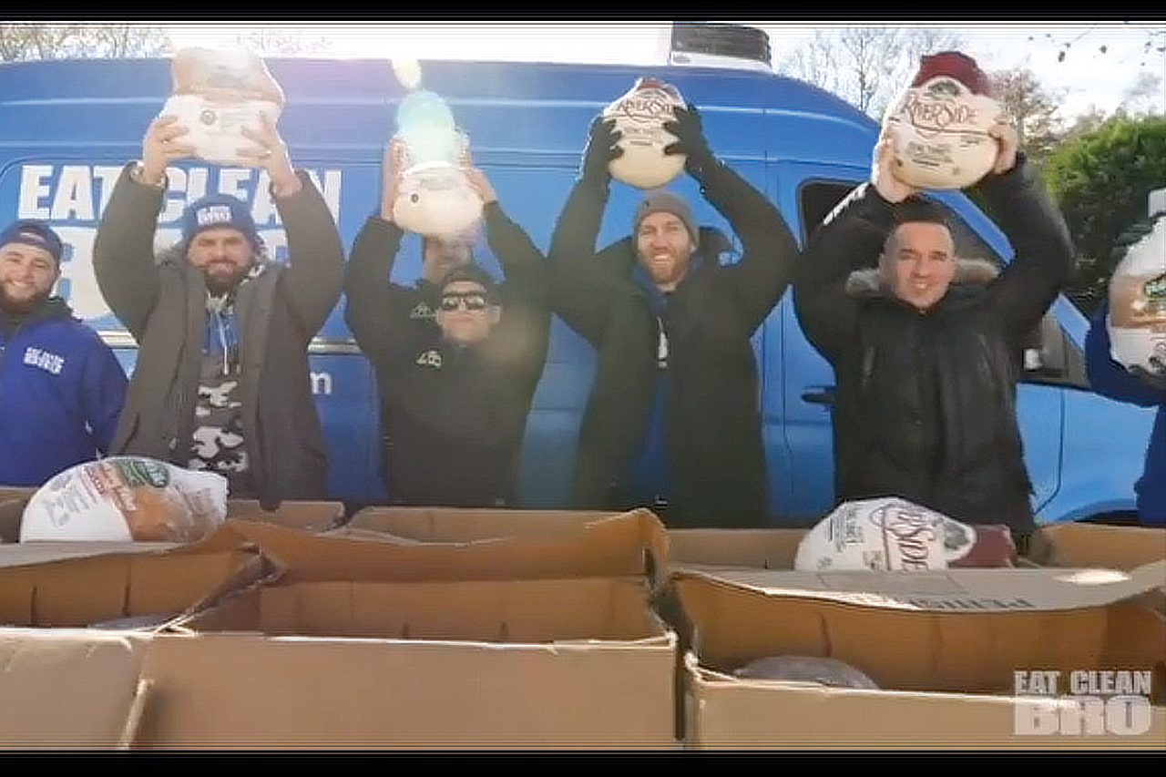 Eat Clean Bro Partners with Lunch Break to hand out 150 Turkeys this Thanksgiving.