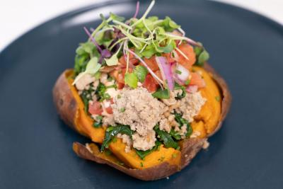 Chef Ronaldo's Loaded Turkey Sweet Potato from the A La Carte Menu