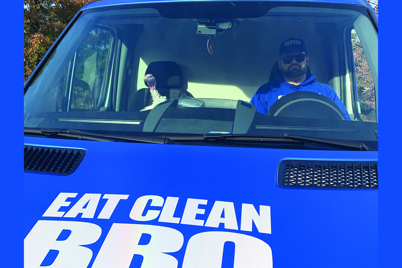 Eat Clean Bro Owner Jamie Giovinazzo Teams Up with Allaire Community Farm to Pardon a Turkey this Holiday Season.